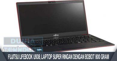 Fujitsu LifeBook U938, Laptop Super Ringan dengan Bobot 800 gram