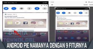 Opsi menyunting screenshot ditampilkan di panel notifikasi Android Pie usai tangkapan gambar diambil