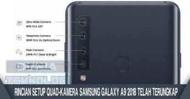 Rincian Setup Quad-Kamera Samsung Galaxy A9 2018 Telah Terungkap