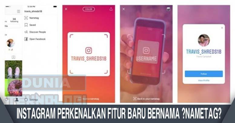 """Instagram Perkenalkan Fitur Baru Bernama """"Nametag"""""""