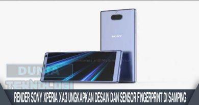 Render Sony Xperia XA3 Ungkapkan Desain dan Sensor Fingerprint Di Samping