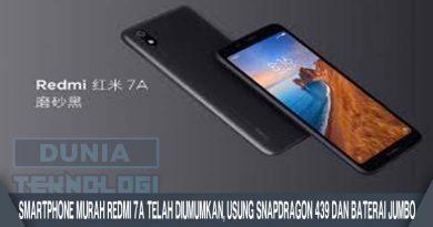 Smartphone Murah Redmi 7A Telah Diumumkan, Usung Snapdragon 439 dan Baterai Jumbo