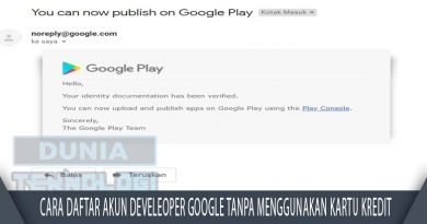 Cara Daftar Akun Develeoper Google Tanpa Menggunakan Kartu Kredit