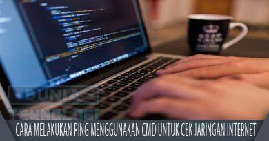 Cara melakukan Ping menggunakan CMD untuk Cek jaringan Internet