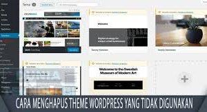 Cara Menghapus Theme WordPress Yang Tidak Digunakan