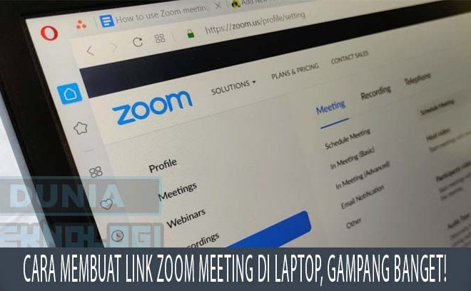 Cara Membuat Link Zoom Meeting di Laptop