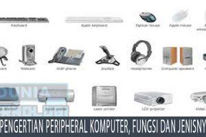Pengertian Peripheral Komputer, Fungsi dan Jenisnya