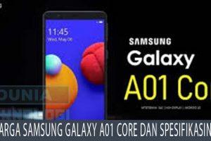 Harga Samsung Galaxy A01 Core dan Spesifikasinya