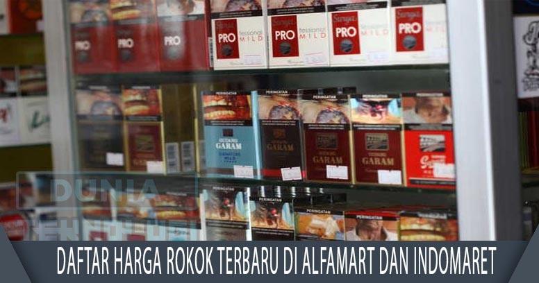 Daftar Harga Rokok Terbaru di Alfamart dan Indomaret